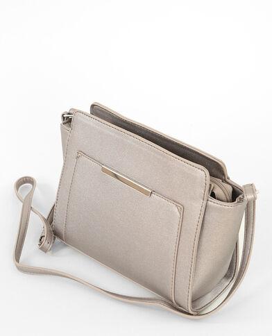 Kleine Tasche in Trapez-Form Braun