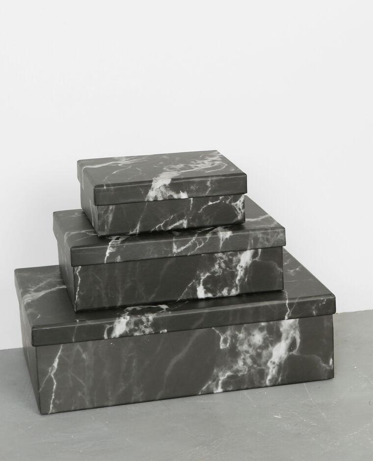 Lot de 3 boîtes noir