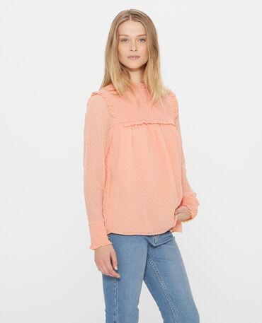 Plumetis-Bluse Orange