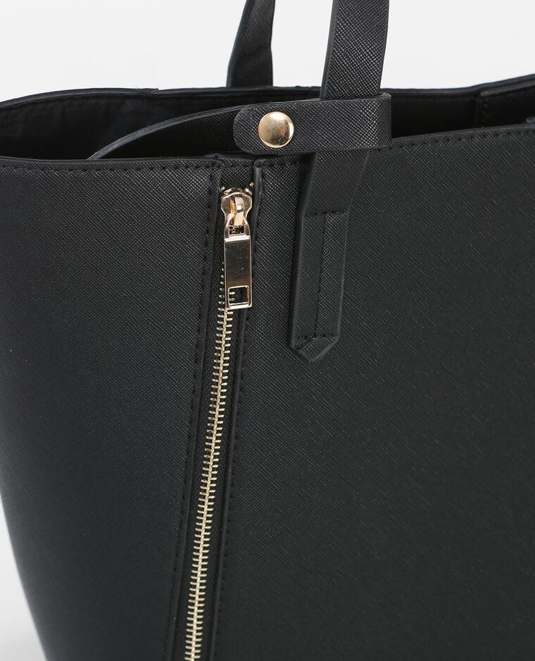 einkaufstasche mit rei verschluss schwarz 983089899a08 pimkie. Black Bedroom Furniture Sets. Home Design Ideas