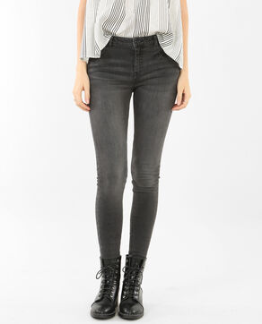 Skinny taille moyenne gris