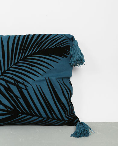 Kissenbezug mit Muster Blau