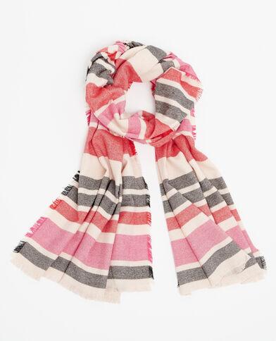 Echarpe à rayures rose