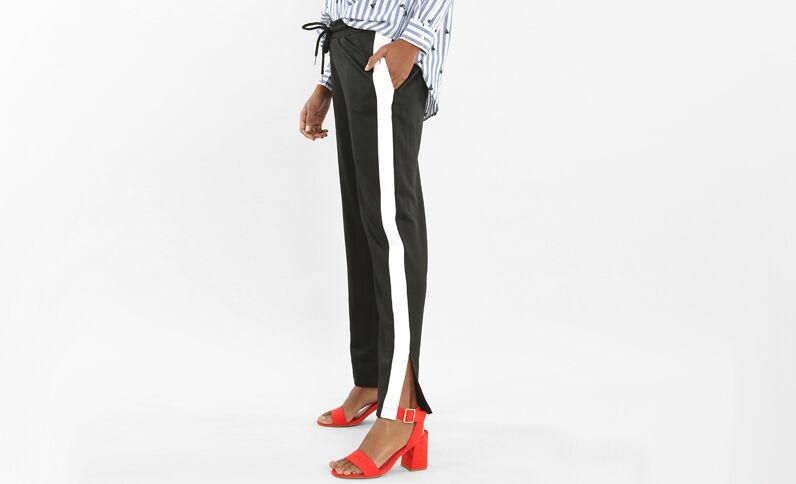 Pantalones de jogging con bandas negro