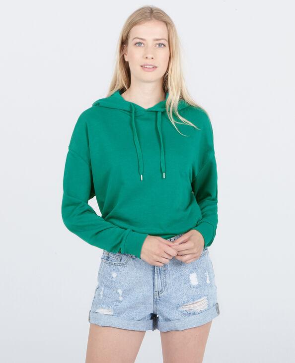 Sweat capuche vert sapin