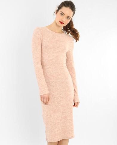 Lange trui-jurk roze