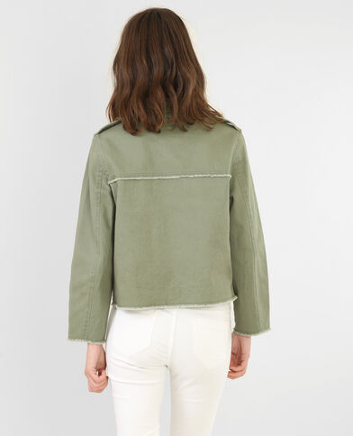 Chaqueta denim color verde