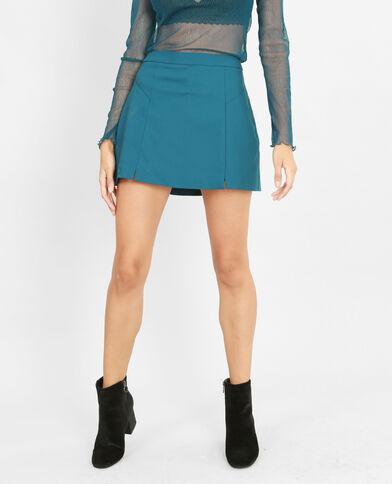 Minifalda-pantalón azulón