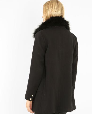Manteau zippé noir