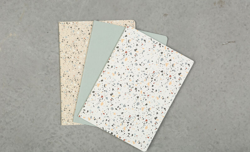 Lot de 3 notebooks bleu