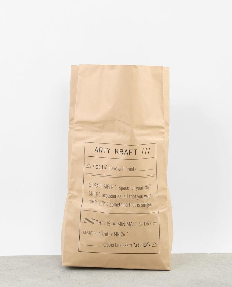 Paper bag arty kraft noir
