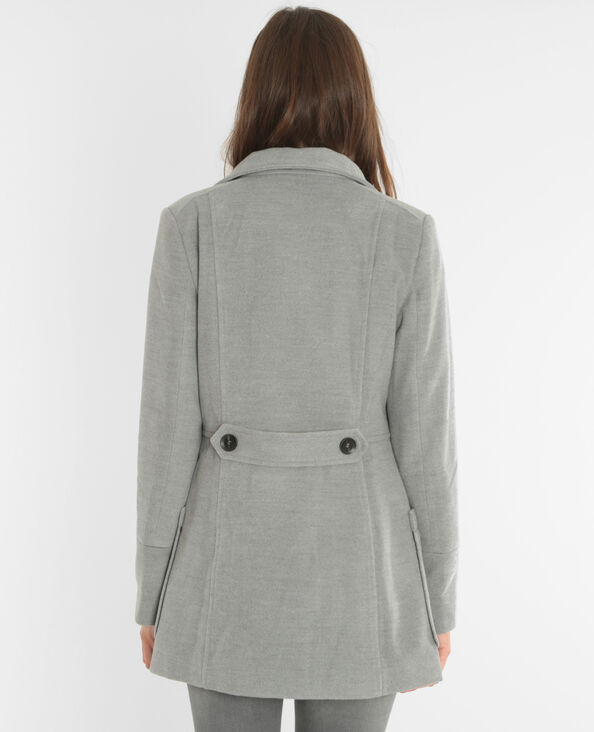 Abrigo con botones gris jaspeado