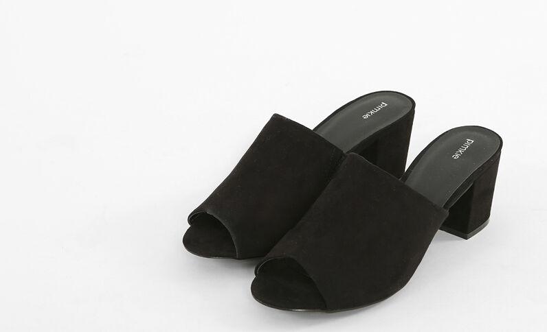 Zwarte instappers zwart