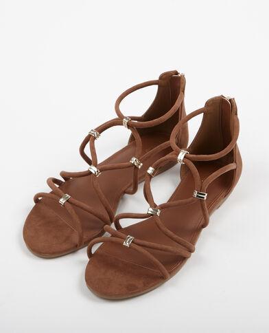 Sandalias planas marrón