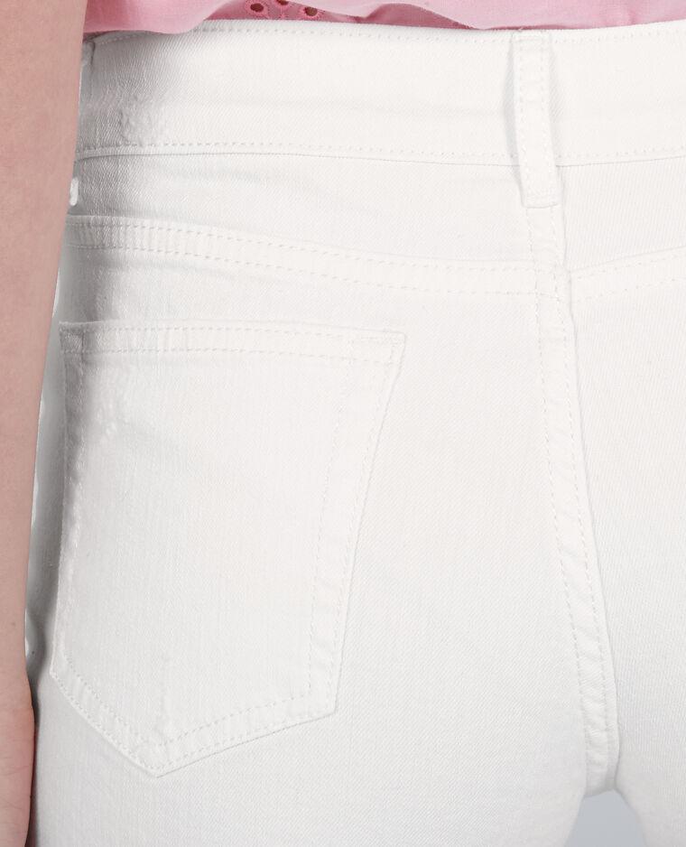Mini short denim blanc