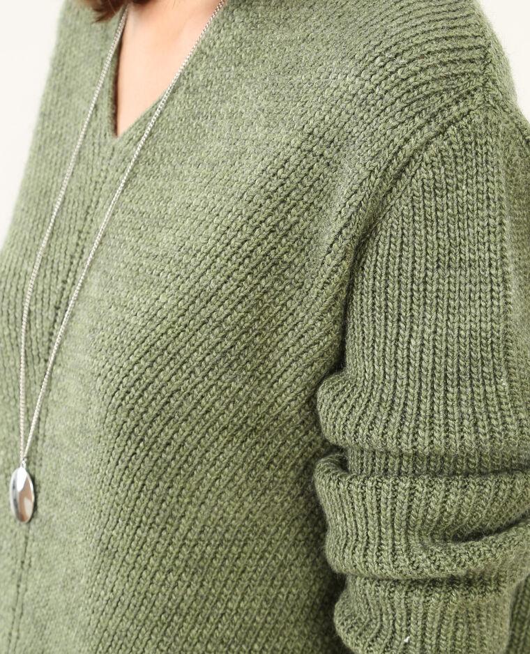 Pull ample col V vert