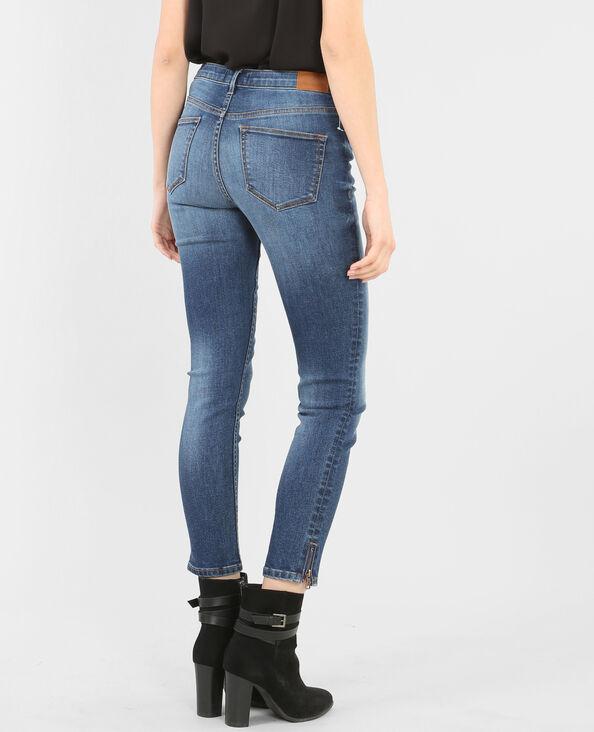 Jean slim zippé bleu