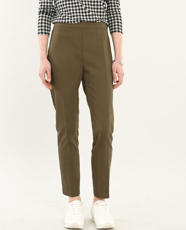 Pantalon city 7/8 vert