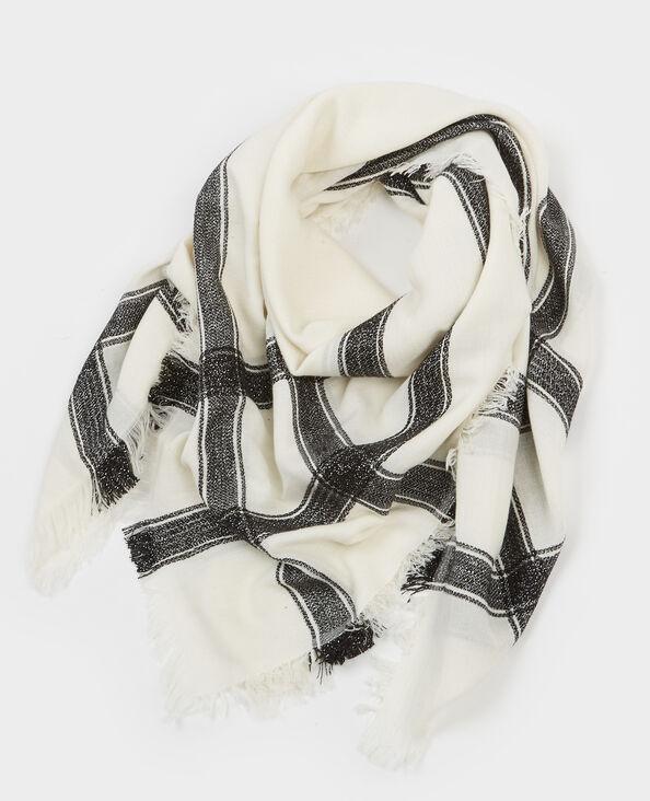 Gewebtes Halstuch aus Lurex Naturweiß