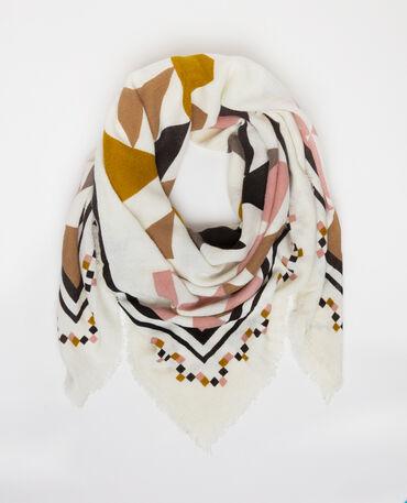 Foulard colorato bianco