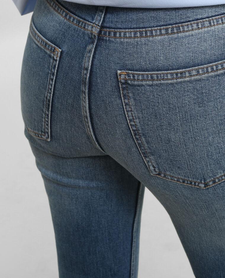 Jeans rectos de talle alto azul vaquero