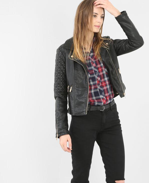 Jacke im Biker-Stil Schwarz