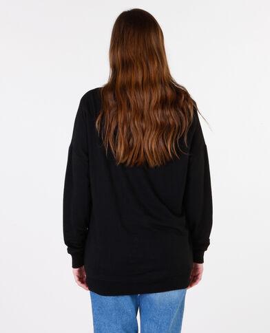 Sweatshirt mit Schriftzug Schwarz