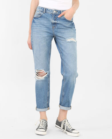 Girlfriend-Jeans Blau