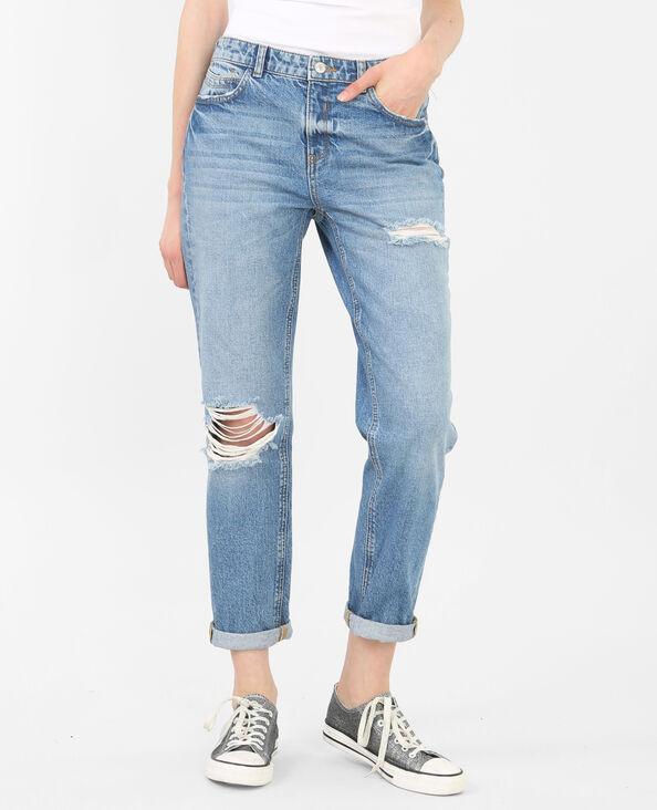 Girlfriend-Jeans Blau
