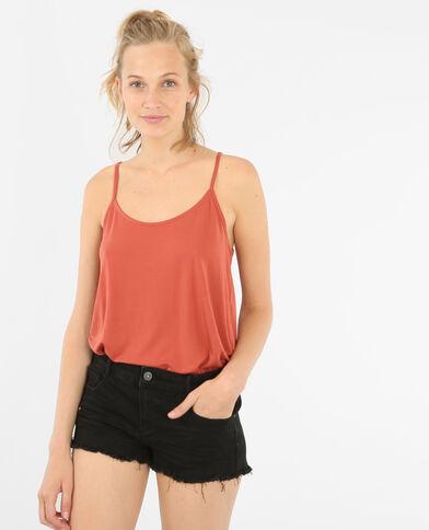 Camiseta de tirantes finos naranja