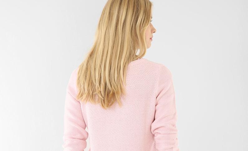 Pullover aus Mustermix Rosa