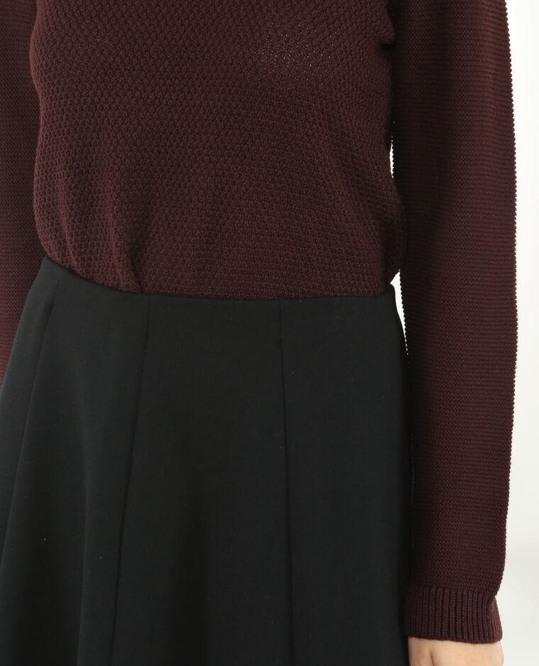 Pullover aus Mustermix Granatrot