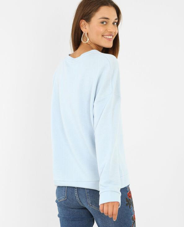 Sweatshirt mit Aufschrift Himmelblau