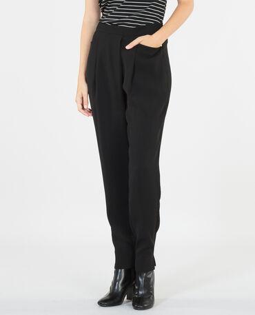 Pantaloni carrot nero