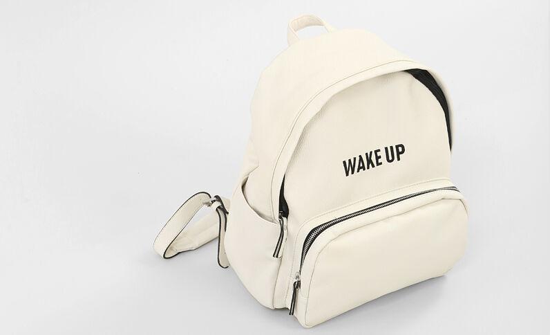 Rucksack aus Kunstleder Weiß