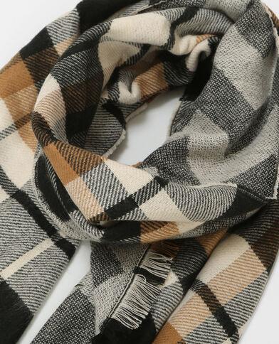 Bufanda cálida de doble cara gris