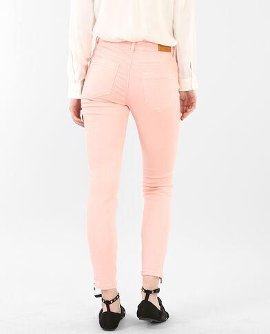 7/8-Skinny-Jeans mit Reißverschluss Rosa