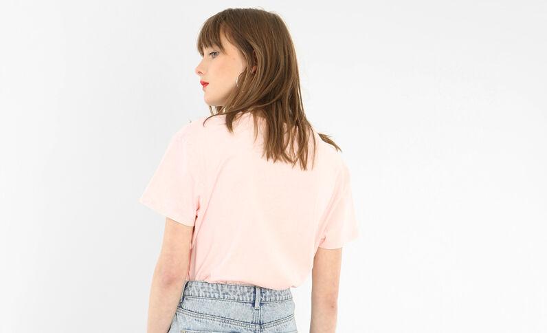 T-shirt licence Def Leppard rosa