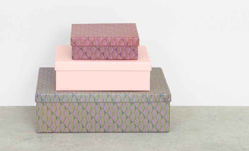 Set van drie dozen groen
