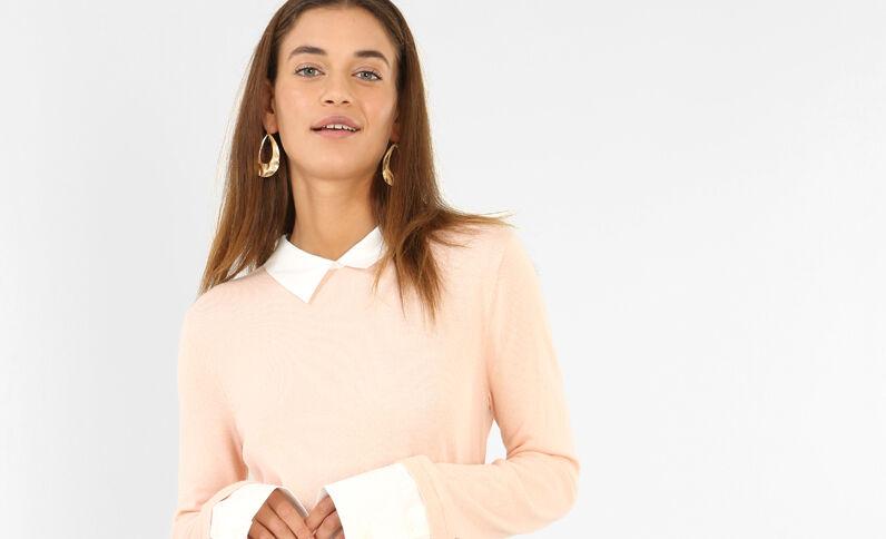 Hemd-Pullover Rosa