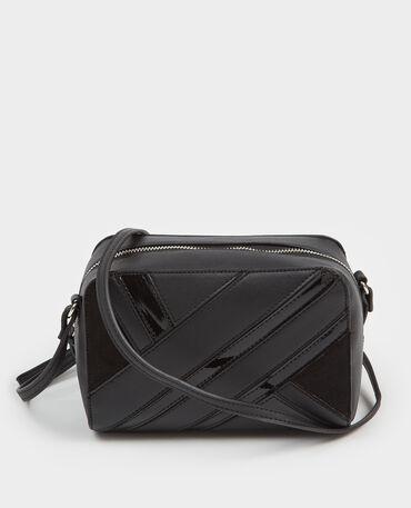 Petit sac boxy patchwork noir