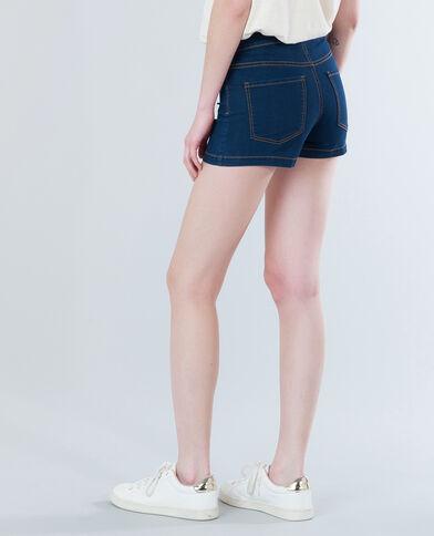 Minishort taille haute bleu