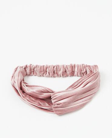 Headband velours rose