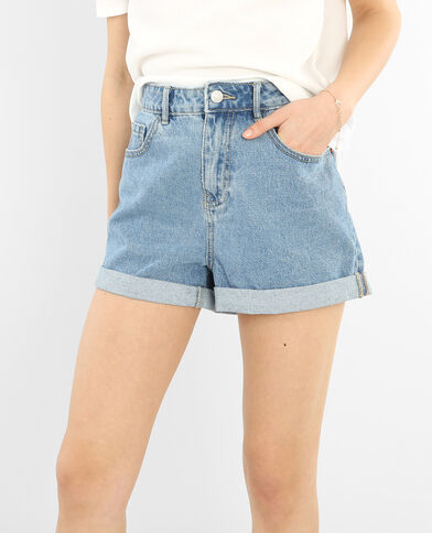 Shorts mom azul vaquero