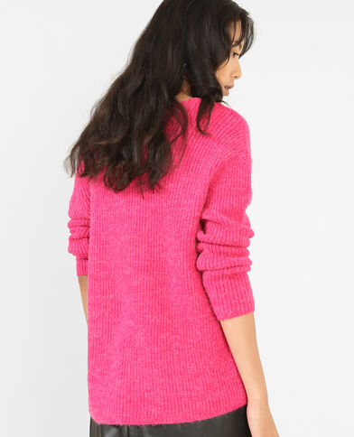 Trui in warm tricot roze