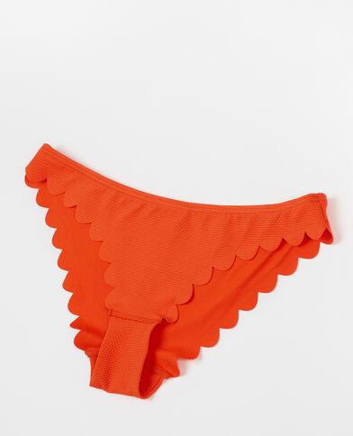 Bikinihose mit Blütenrand Orange