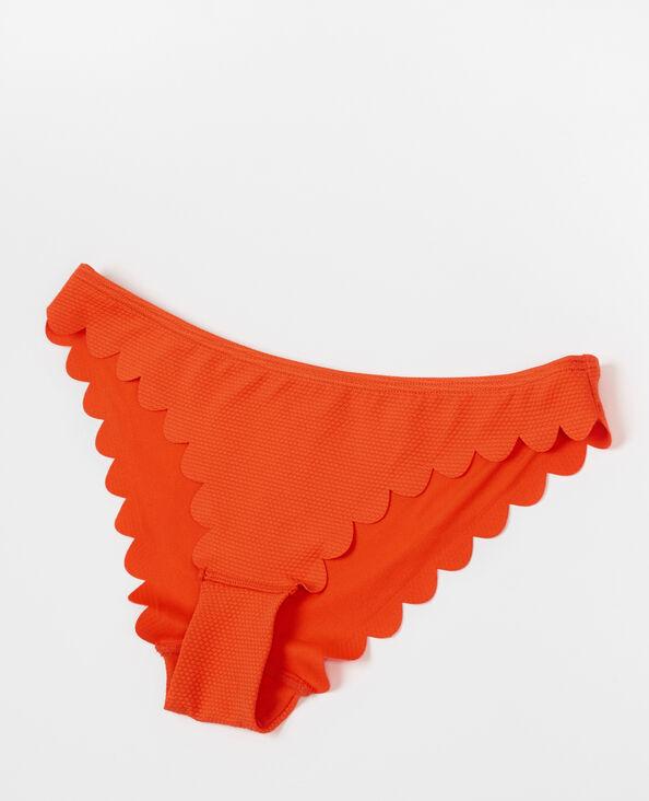 Bikinislip met bloemblaadjes oranje