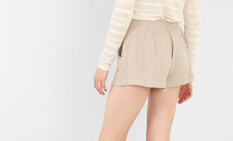 Short vaporoso beige