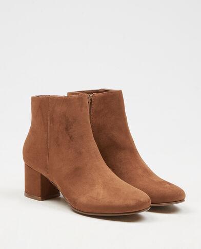 Boots effet daim marron