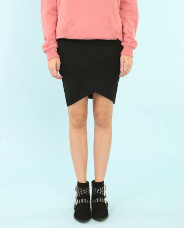 Minifalda bodycon negro
